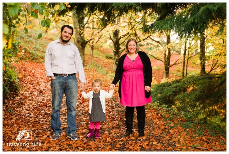 family portrait in fall foliage