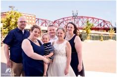 Family portrait with Portland's Broadway Bridge