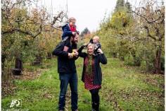 Family portrait at Draper Girls apple orchard