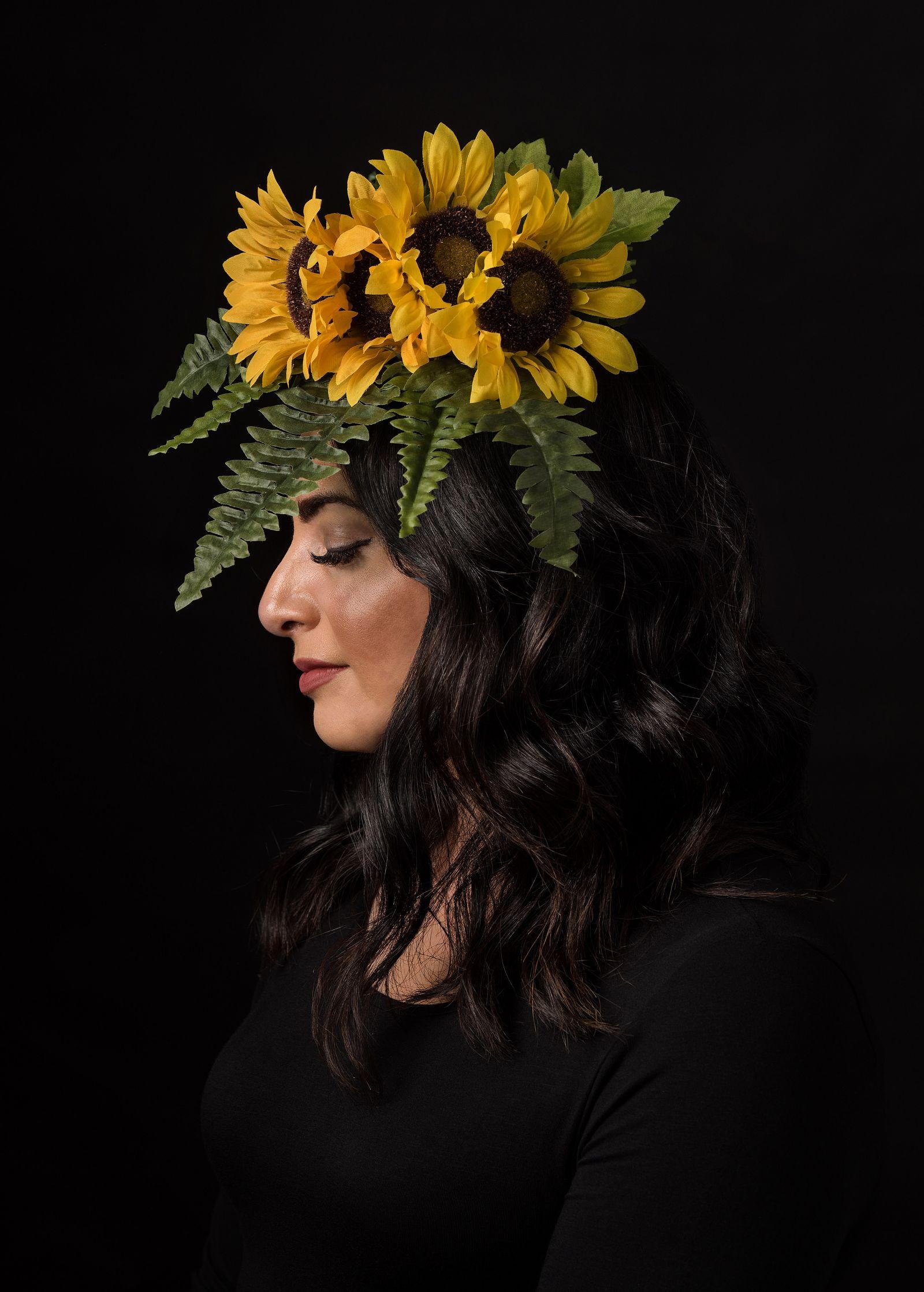 fine art portrait sunflowers