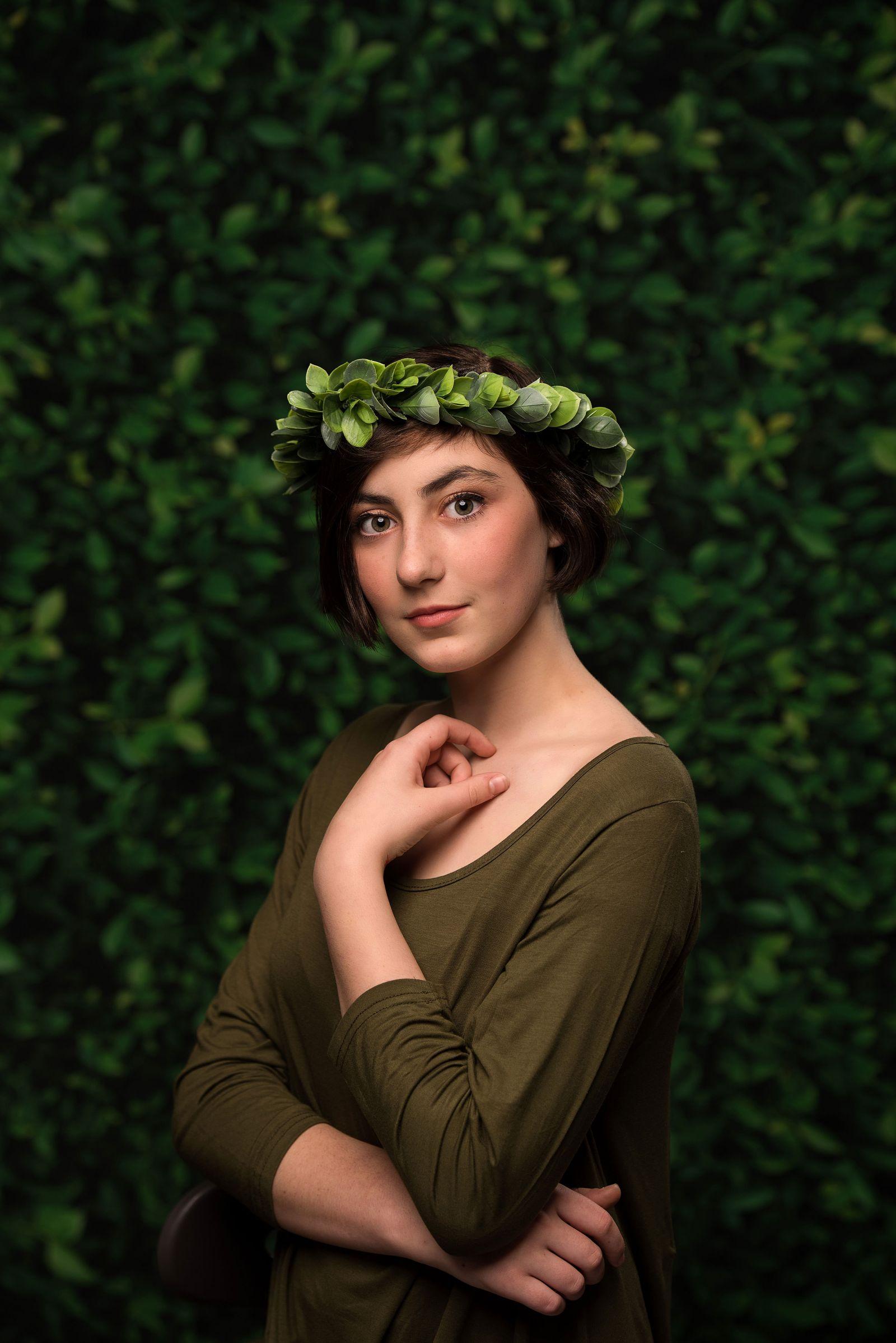 fine art portrait greenery