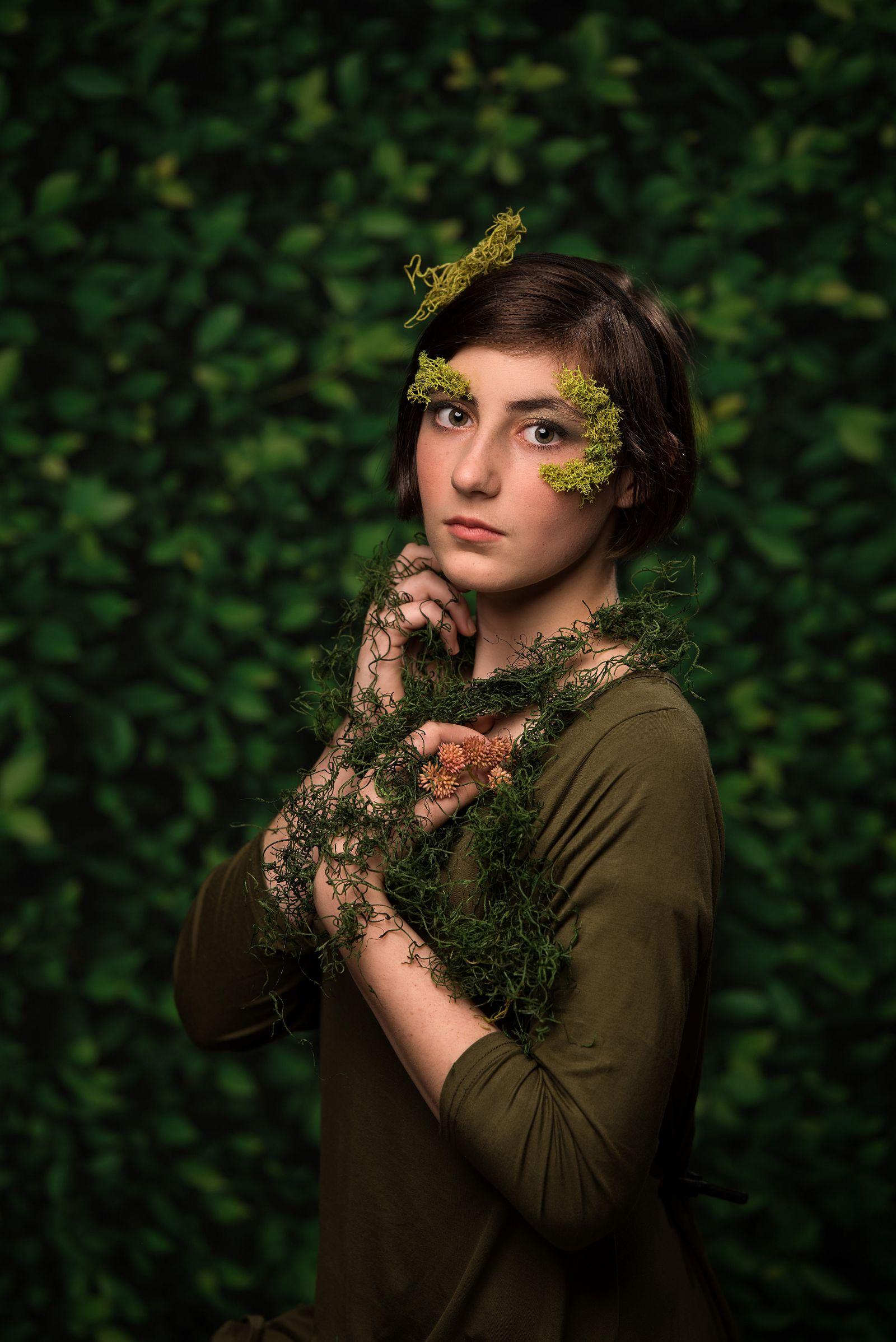 fine art portrait vines flowers