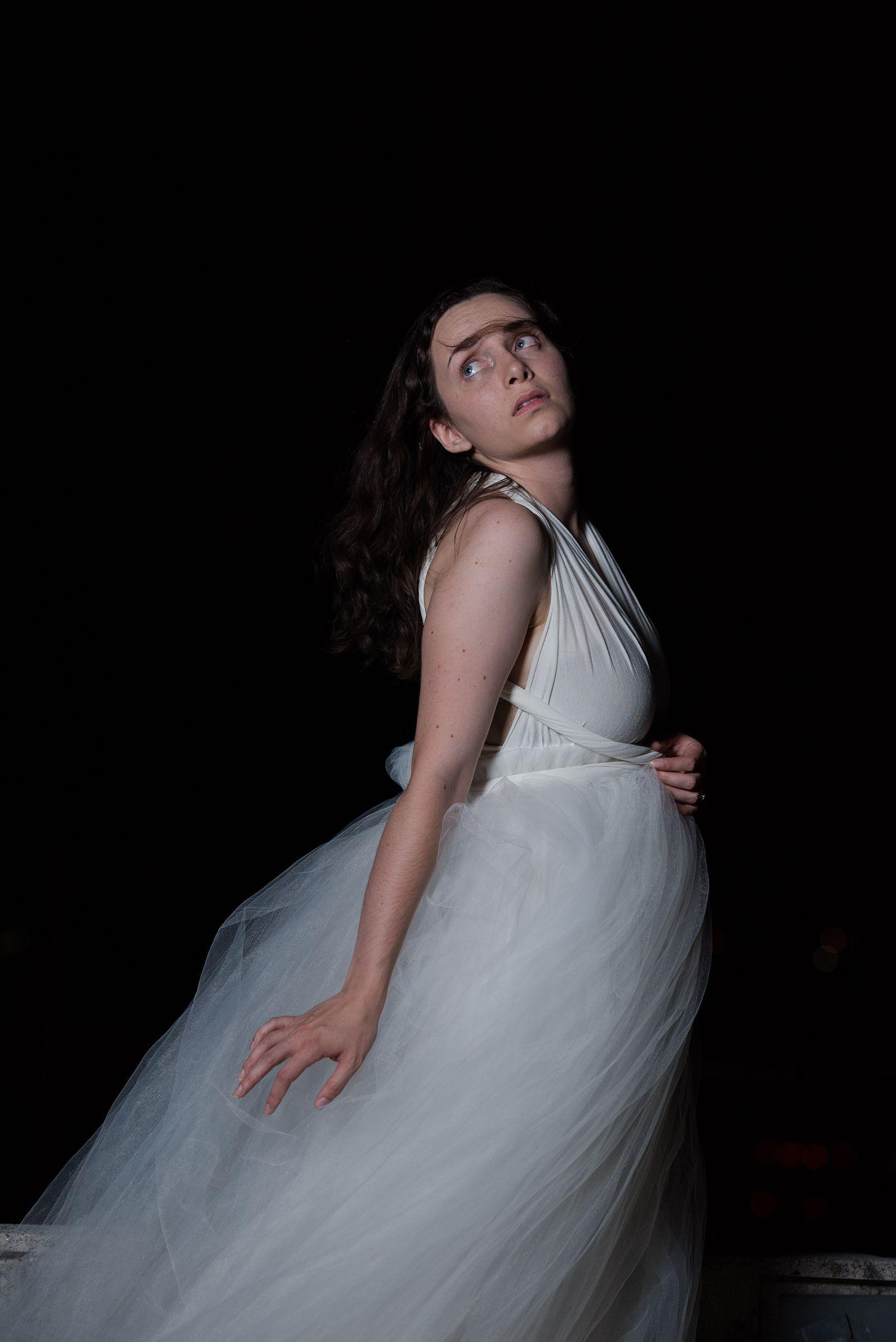 fine art portrait white dress